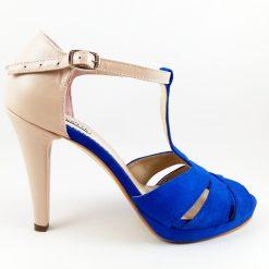 Delight - Nude&Blue - Sandale piele naturala