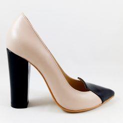Princess (block heels) - Pantofi piele naturala