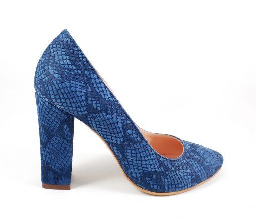 Pantofi Doll - Toc gros - Pantofi piele naturala