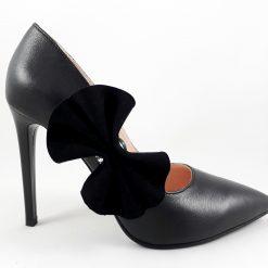 Precious Black - Verde Jad - Pantofi cu piatra semipretioasa