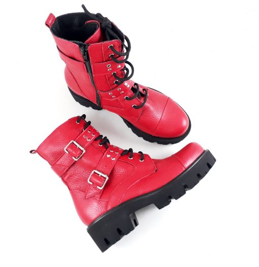 Red Boots - Ghete piele naturala