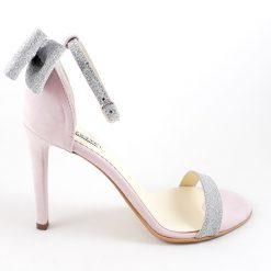 Millene - Glitter - roz pudrat - Sandale piele naturala