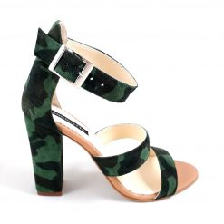 Fashionista - Sandale piele naturala - army