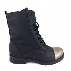 Winter Love - Ghete piele naturala - Black & Bronze