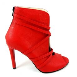 Eden - Open-toe -Red Booties