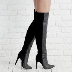 Selene - Cizme peste genunchi - piele naturala