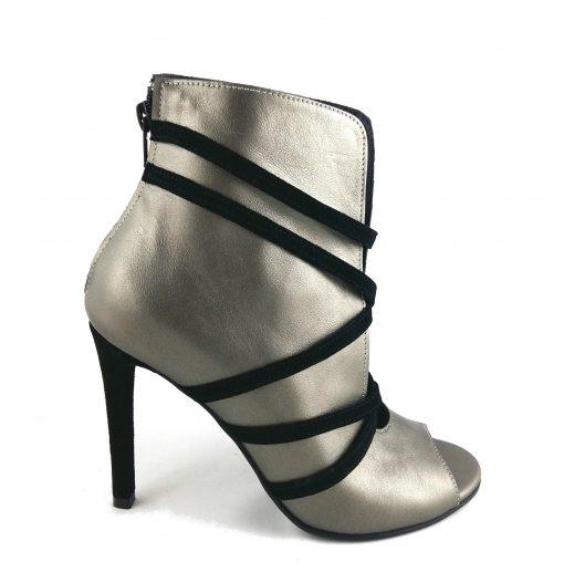 Eden - Open toe - Black & Bronze