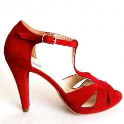Delight - Hot red - Sandale piele naturala
