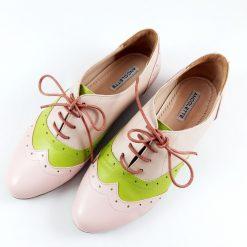 Oxford - Fresh Mix - pantofi cu siret, piele naturala