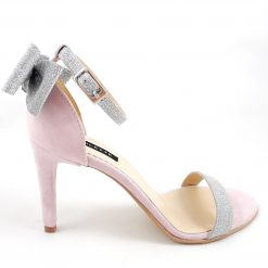 Millene - toc 8- roz pudrat - Sandale piele naturala