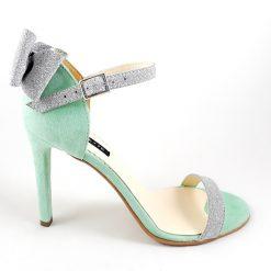 Millene - Aqua Green - Sandale piele naturala