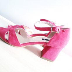 Issa - Sandale cu toc mic - piele naturala