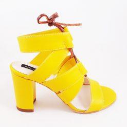 Summer Love - Sandale galbene piele naturala