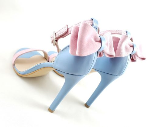 Millene - pastel - sandale piele naturala roz bleu