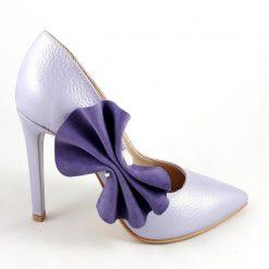 Precious Violet - Pantofi mov - lila piele naturala