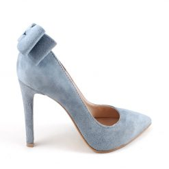 Allure - IceGrey - Pantofi gri fundite - piele naturala