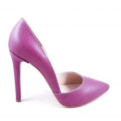 "Stiletto ""Fructe de padure"" - Pantofi piele naturala"