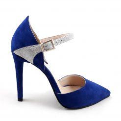 Royal - Stiletto albastru piele naturala
