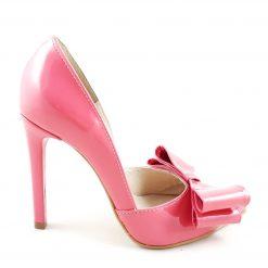 Distinct - Pantofi somon funde - piele naturala