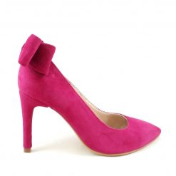 Allure (2) - Pantofi fuchsia piele naturala