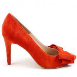 Distinct - Orange - Stiletto Funde piele naturala