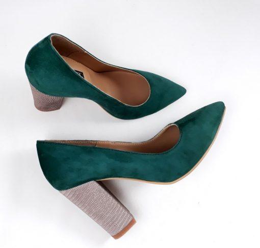 Doll - Pantofi piele naturala - verde & bronz