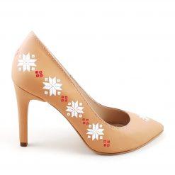 Pantofi cu motive traditionale pictati manual - pantofi pe comanda