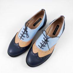 Oxford veseli - Pantofi piele naturala