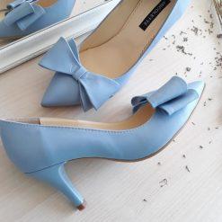 Kittens - Blue - Pantofi toc mic - piele naturala