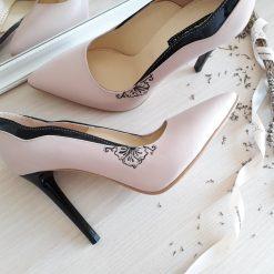 Pearl - Roz pudra - pantofi piele naturala