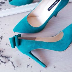 Allure - smarald - Pantofi piele naturala
