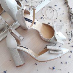 Chloe - ivory - Pantofi mireasa, piele naturala