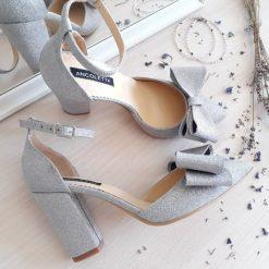 Chloe - Stardust - Pantofi mireasa, piele naturala
