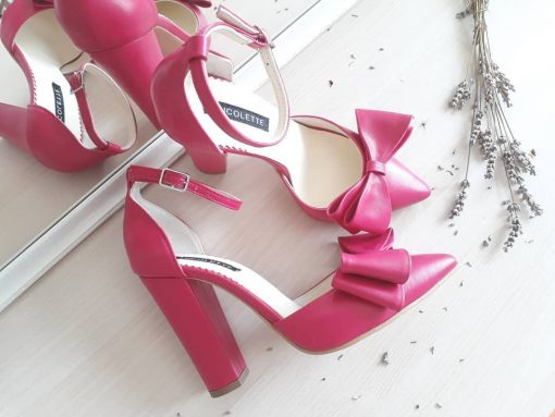 Chloe - Fuchsia - Pantofi piele naturala