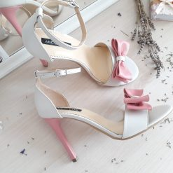 Eve - Sandale mireasa - pastel - piele naturala