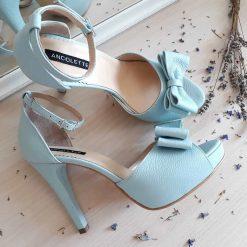 Alice - Mint - Sandale mireasa - piele naturala