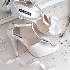 Alice - Ivory- Sandale mireasa - piele naturala