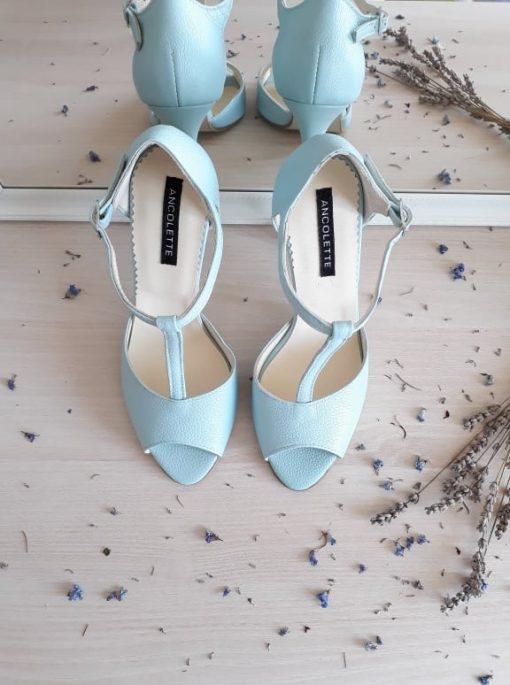 Sandale mint - piele naturala