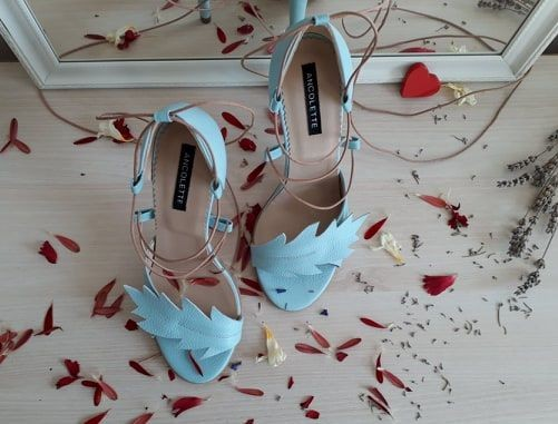 Nature - mint - sandale cu inspiratie din natura