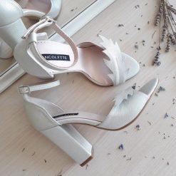 Nature - Silver - Sandale mireasa - piele naturala