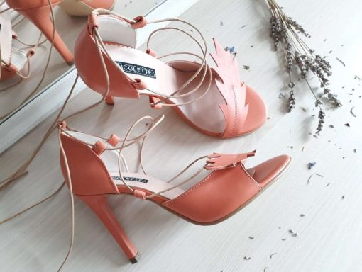 Nature - Apricot - sandale cu inspiratie din natura