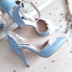 Nature - Serenity Blue - Stiletto piele naturala