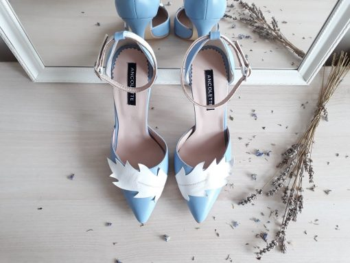 Nature - Serenity Blue - Stiletto piele naturala