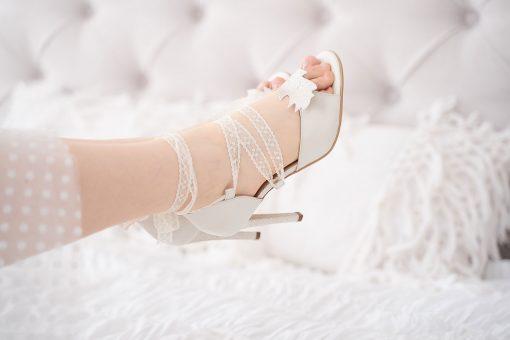 Celine - Pastel - sandale bleu & roz pudra - piele naturala