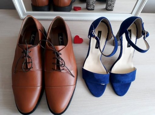 Pantofi El & Ea - pantofi cuplu - pantofi barbati derby maro- piele naturala