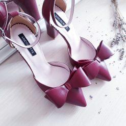 Chloe - Bordeaux - Pantofi piele naturala