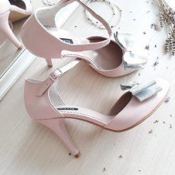 Dorothy - pantofi mireasa - roz pal - varf rotund - piele naturala