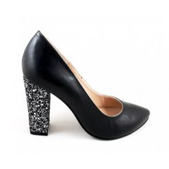 Doll - Pantofi piele naturala - Negru & Giltter