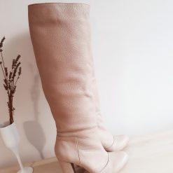 Rhea Cream - rotund - piele naturala