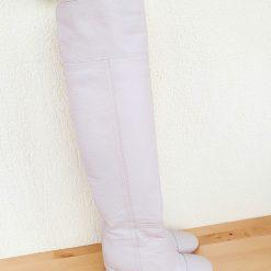 Anna - Milky Beije- cizme lungi, piele naturala